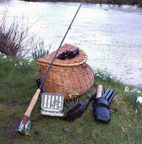 A traditional creel basket, used to hold an angler's catch. (FWC photo)