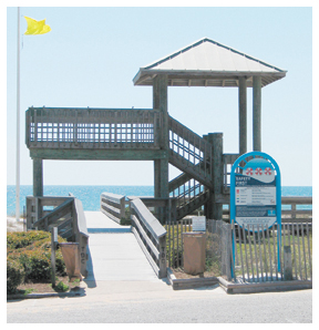 Ed Walline has parking, restrooms and lifeguards during the summer season.