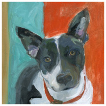 Adoptable pet portrait by Teresa Cline. Photo courtesy teresaclinegallery.com