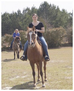Ceely Barfield on her Paso Fino.