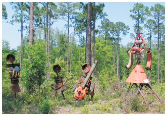 A band of Rustafarians greet visitors at Glendale Memorial Nature Preserve. Lori Ceier/WaltonOutdoors.com