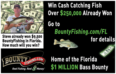 Florida state wide bass tournament offering million dollar for Bass fishing tournaments in florida