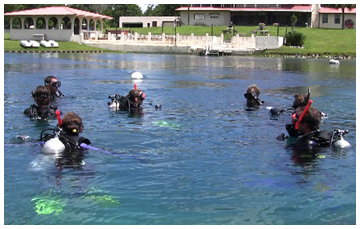 Divers at Vortex Spring. Lori Ceier/Walton Outdoors