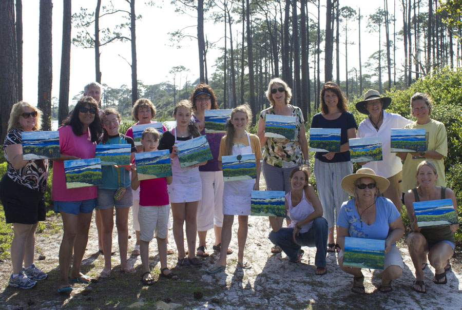 Painting for a great cause at Topsail Hill Preserve State Park.