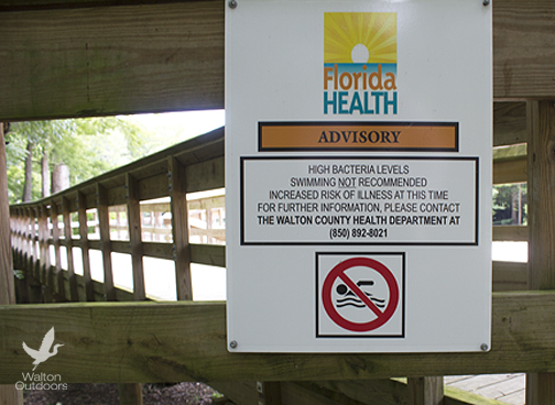 Health advisory issued for Morrison Springs. Lori Ceier/Walton Outdoors