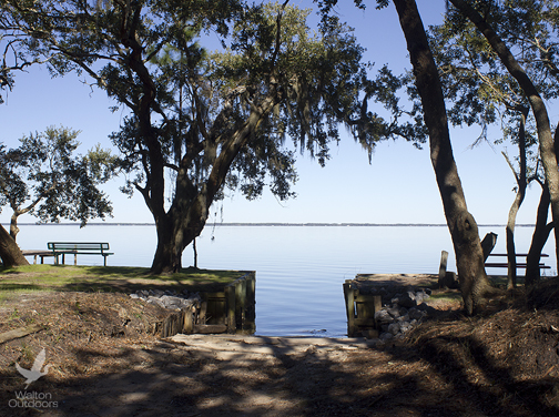 Kellogg Bayfront park offers perfect place to launch a kayak, canoe or stand up paddle board. Lori Ceier/Walton Outdoors