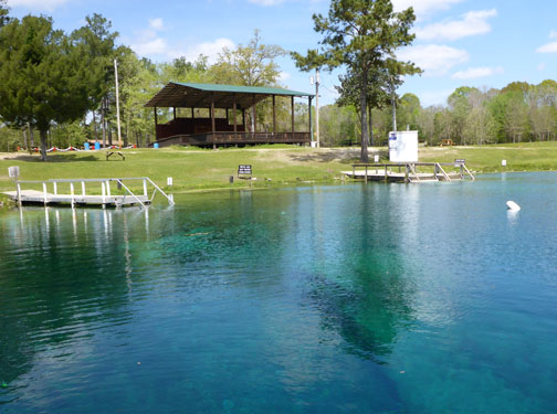 Swim, play and dive at Vortex Spring. Lori Ceier/Walton Outdoors