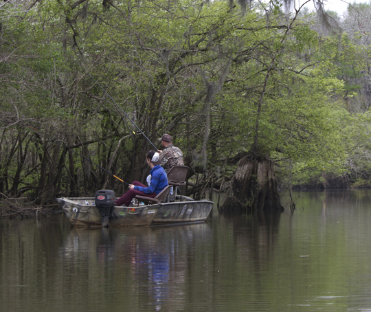 Fishing the back waters of the river. Lori Ceier/Walton Outdoors