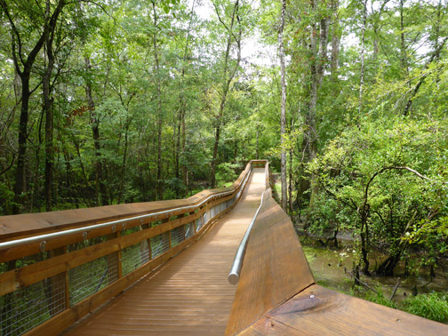Boardwalk to canoe/kayak dock. Lori Ceier/Walton Outdoors