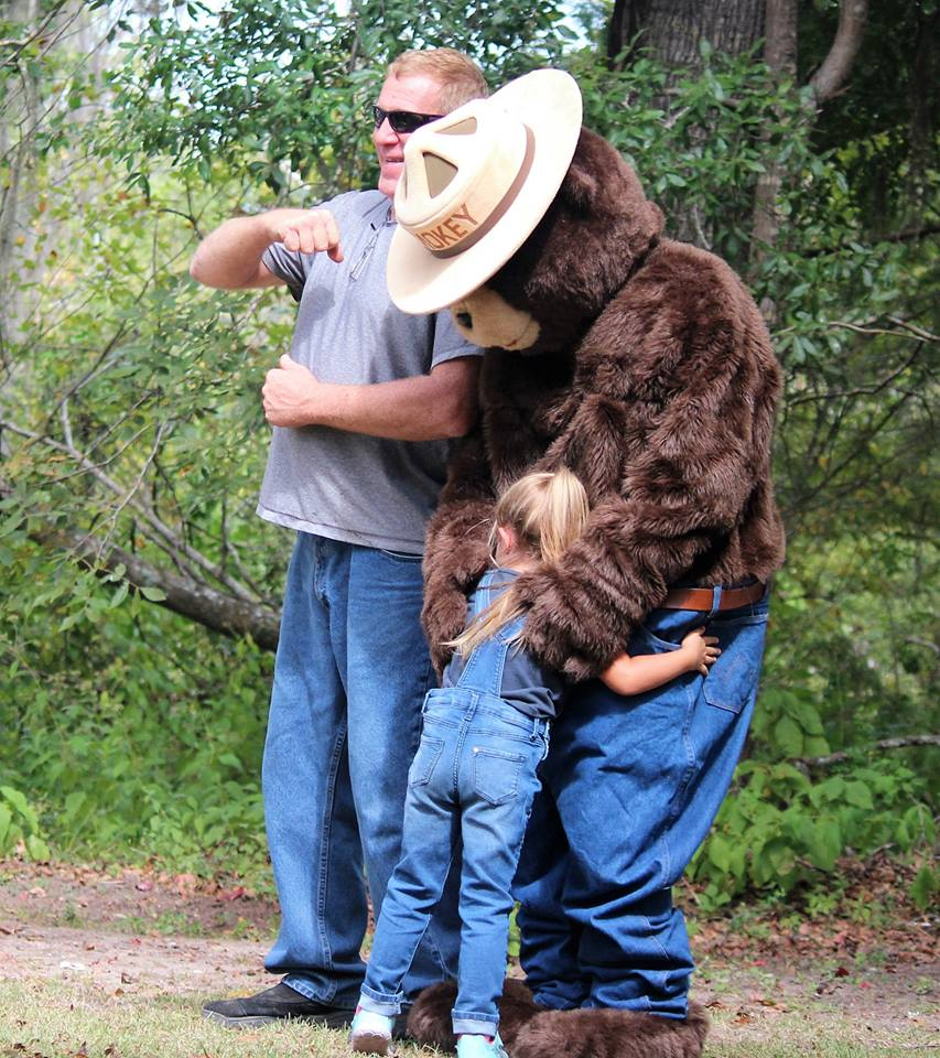All the little ones love Smokey The Bear. Photo courtesy Donna Doud