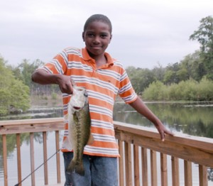 Whether it's playing hide and seek outdoors, exploring a trail or going fishing, time spent outdoors provides big benefits to youth.  Photo courtesy FWC