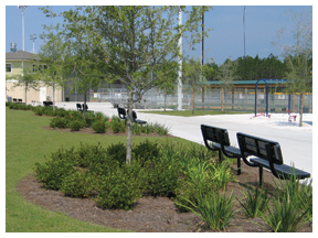 Freeport Regional Sports Complex path. Lori Ceier/Walton Outdoors