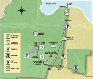 Eden Gardens State Park map. Illustration courtesy DEP. Click to enlarge