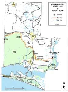 Lafayette and Eglin Florida Trails. Illustration courtesy Florida Trail Assoc. Click to enlarge