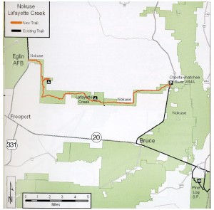 Lafayette/Nokuse portion of Florida Trail. Illustration courtesy Florida Trail Assoc. Click to enlarge