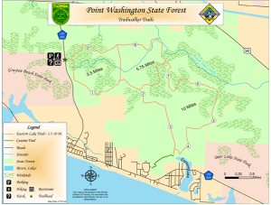 Point Washington Forest trail area. Illustration courtesy U.S. Forestry. Click to enlarge