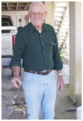Gene Wesley, your local friendly crabman.