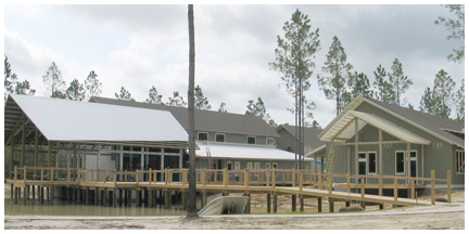 Buildings nearing completion.