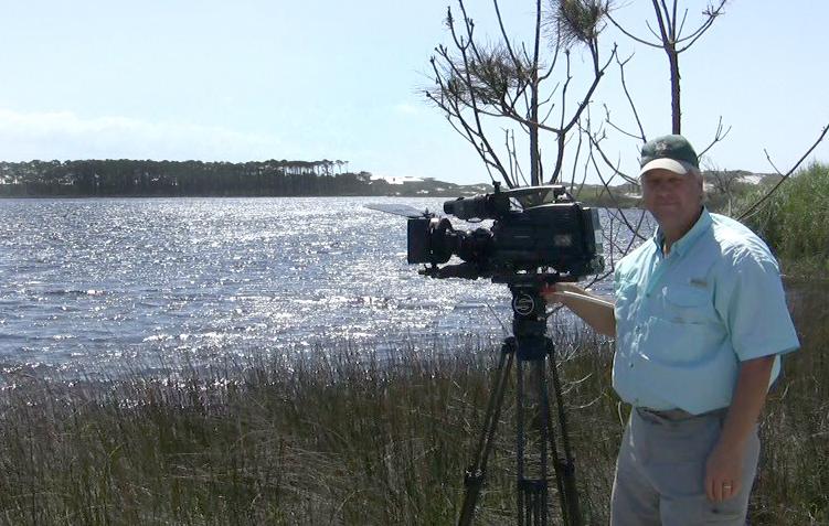 Elam at work at Western Lake expanding his coastal dune documentary.