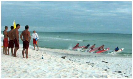 South Walton Fire District Lifeguards give demonstration to Cub Scouts.
