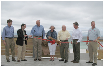 Walton County commissioner Cecilia Jones cuts the ribbon at Miramar Beach Access.