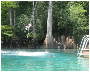 Nothing better than a rope swing into 68 degree clear water on a hot summer's day.