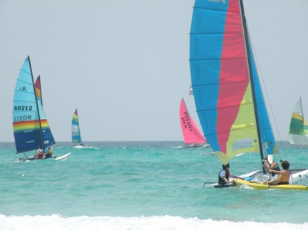 Local Stacy Hamilton snapped this colorful photo of the Rags to Riches Regatta from Seagrove to Grayton Beach on July 3.