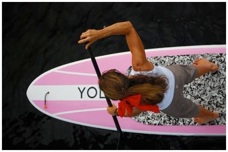 Race series paddle boarder prepares for race. Photo courtesy brandanbabineaux.com