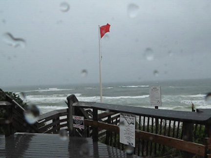 The Gulf of Mexico remains rough as Claudette passes through Walton County.