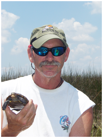 Rick O'Conner, his wife Molly and sister-in-law Betsy have been studying diamondback terrapin. Photo courtesy Rick O'Connor