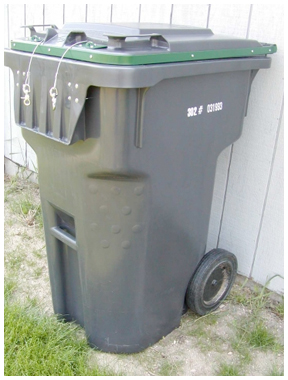 Purchasing bear-resistant garbage cans can help deter bears from getting into garbage.