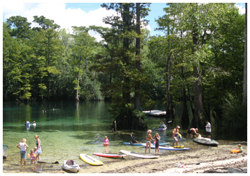 Paddlers of all ages enjoyed Morrison Springs Sept. 13.