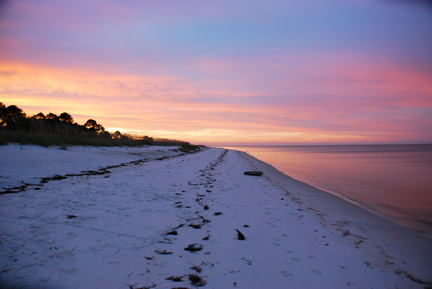 Sunrise on St. Joe Bay. Photo courtesy Brandan Babineaux.