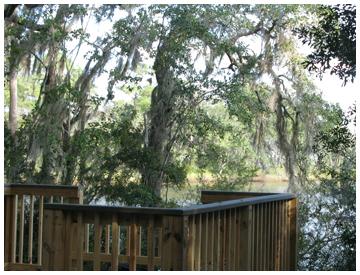 New scenic overlook platform looks over Tucker Bayou.