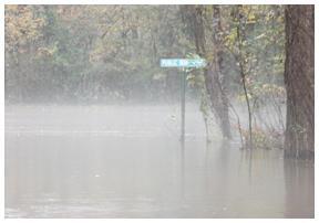 Flooding near Red Bay.