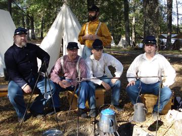 Civil War camp, battle and music in DeFuniak Springs Jan  27