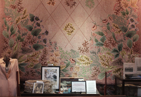 Rubye Walden's rug on display at the Walton County History museum. Lori Ceier/Walton Outdoors