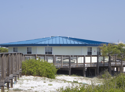 Dormitory style cabins spread out along the dunes. Lori Ceier/Walton Outdoors
