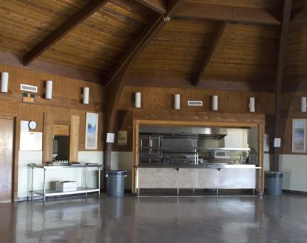 Recreation hall and large kitchen facility at William Rish Park. Lori Ceier/Walton Outdoors