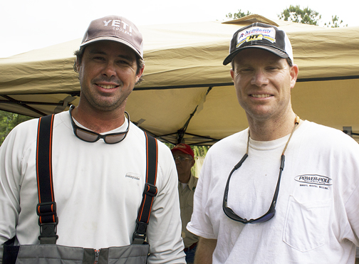 Jake Matney, left of Walton County and his partner Fed Myers of Bay County took first place in the Annual Nick's Redfish Roundup. Lori Ceier/Walton Outdoors
