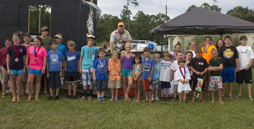 Everyone was a winner at the Nick's Seafood Restaurant's Kids Catfish Tournament. Lori Ceier/Walton Outdoors