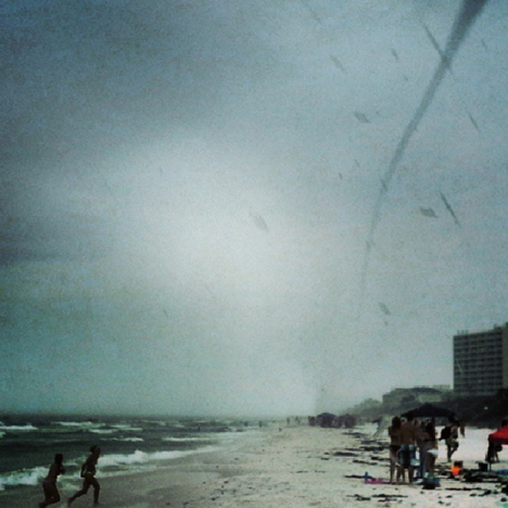 Waterspout hits land on Seagrove beach. Courtesy photo
