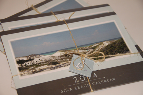 The 30-A calendar is available at retail shops in South Walton.