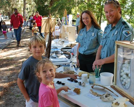 Kids enjoying the Topsail Hill Preserve State Park exhibit. Photo courtesy Jeffrey Powell/DeFuniak Springs Herald