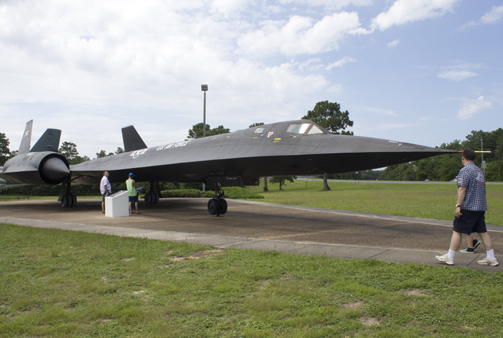 The SR-71 Blackbird on display at the Air Force Armament Museum is the fastest airplane ever built. The aircraft holds all of the official airspeed and altitude records. It set a speed record on a flight from New York to London at an average speed of 1,435.964 mph. Then set another record on a straight course at 2,193.167 mph. Lori Ceier/Walton Outdoors