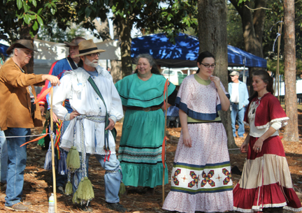 Muscogee Indian Gathering and Encampment one of the many free events at the Chautauqua Assembly. Lori Ceier/Walton Outdoors
