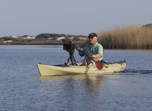Elam Stoltzfus preparing to film Western Lake in South Walton. Lori Ceier/Walton Outdoors