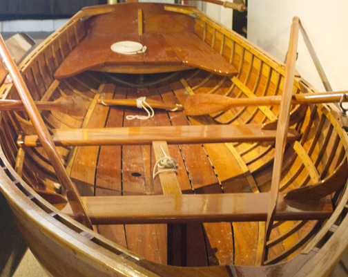 Restored wooden boats on display at museum. Lori Ceier/Walton Outdoors
