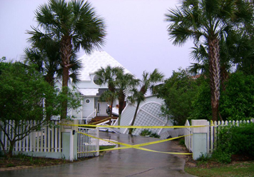 This Gulf front house near Gulf Place in Santa Rosa Beach received heavy damage from the storm. Photo courtesy Sondra Garvey.