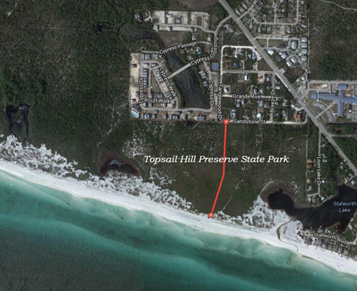 TDC seeks Topsail Hill Preserve State Park land for beach access/bicycle parking.